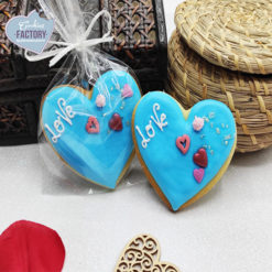 galletas decoradas san valentin corazon azul