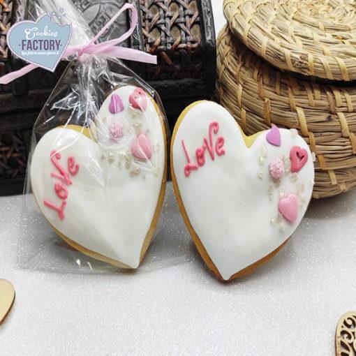 galletas decoradas san valentin corazon blanco