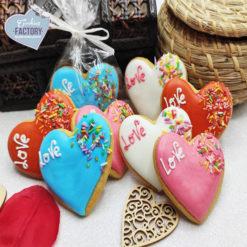 galletas decoradas san valentin corazones colores
