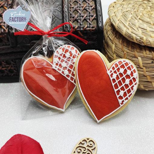 galletas decoradas san valentin corazones puntillas