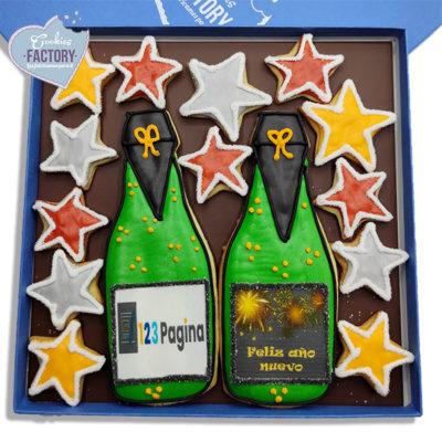 caja galletas decorada empresa regalo