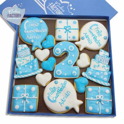 caja galletas decoradas cumpleaños adrian