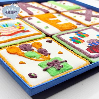 caja galletas personalizadas aniversario