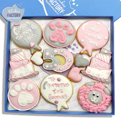 caja galletas personalizadas cumpleaños rosita