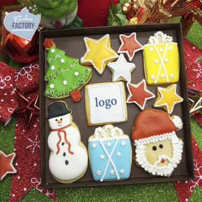 caja galletas personalizadas empresa navidad