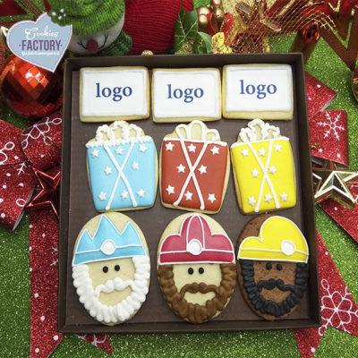 caja galletas personalizadas empresa reyes magos