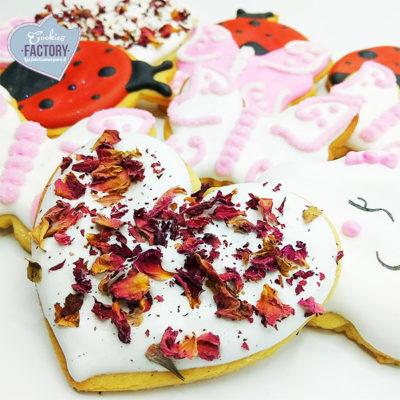 ideas galletas personalizadas corazones