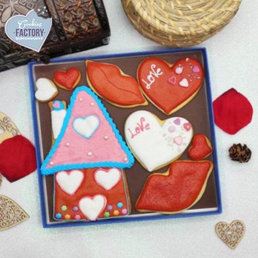 caja galletas personalizadas San Valentin casita love