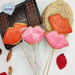 galletas decoradas san valentin besos con palo