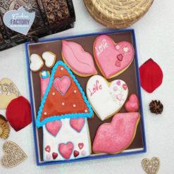 galletas decoradas san valentin casita corazon