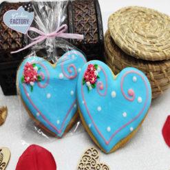 galletas decoradas san valentin corazon blue