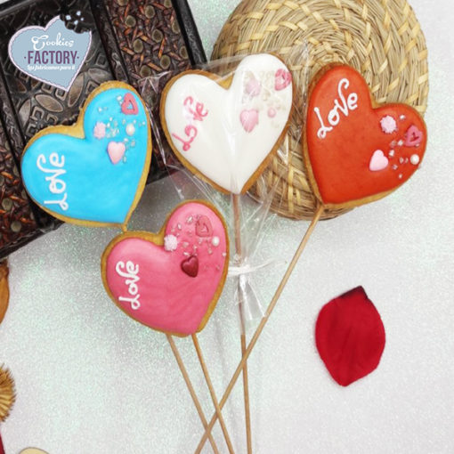 galletas decoradas san valentin corazones con palo