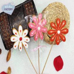 galletas decoradas san valentin florecitas con palo