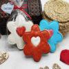 galletas decoradas san valentin flores con corazón