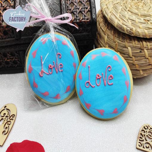 galletas decoradas san valentin love blue