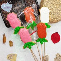 galletas decoradas san valentin rosas con palo